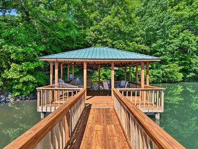 Photo for Waterfront Lake Norman Home w/ Dock & Boat Ramp