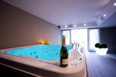 Salute! Toast your stay at the residence here at the spa.