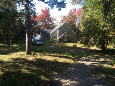 Photo for Charming cottage in wooded area, an open floor plan, overlooking tidal water