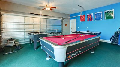 Air Conditioned Games Room With Pool Table, Air Hockey, Foosball, Ping Pong