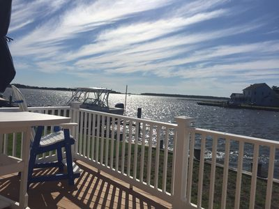 Photo for Million Dollar View! Waterfront oasis with Ocean City skyline view!