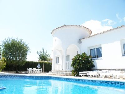 Photo for Stunning 3 Bed Villa with private garden and pool. WIFI/air con. Great Location