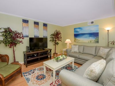 Photo for Cozy 2 Bedroom in Our Place at the Beach with Bay Views and Outdoor Pool!