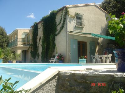 Photo for Villa with Infinity Pool - Pyrenees Orientale: 30 min Med/Spain/Pyrenees.