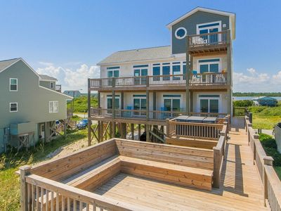 Photo for SEA FOR MILES: 6BR/5.5BA Sleeps 16 Oceanfront N Topsail Beach Elevator HotTub