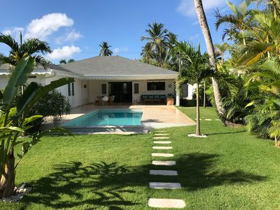 Photo for NEW VILLA 250m from the BEACH, Pool, 4 Bedrooms, 4 Bathrooms in Ballenas