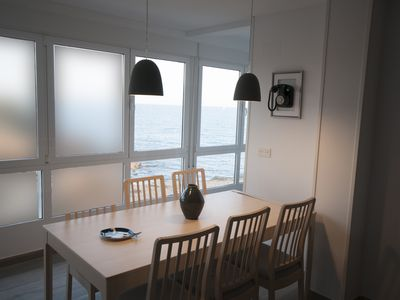 Photo for Sea views, 3 bedrooms, newly renovated terrace 50m2 BBQ