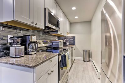 The kitchen is remodeled and comes fully equipped!