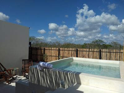 Photo for Private Jacuzzi & Penthouse at Residential location (3. 6km from the beach area)