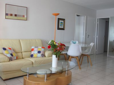 Photo for The California 174: 2 bedrooms apartment, private parking, 50m from the beach