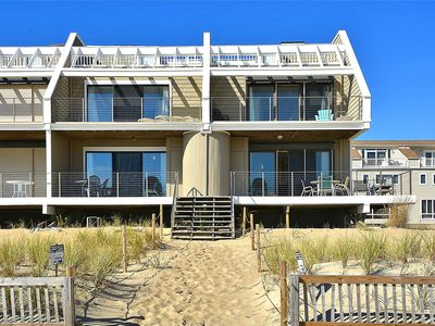 Photo for FREE DAILY ACTIVITIES INCLUDED! Amazing ocean front vacation home sits right out on the beach with no dunes!