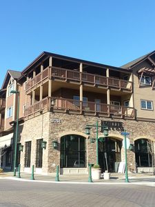 The rental is the top floor corner unit with a wrap around deck.