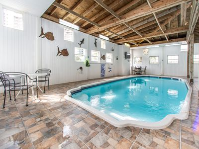 PRIVATE Indoor Pool⭐Across fr Beach☀️Inspected & Disinfected☀️4BR The Pool House