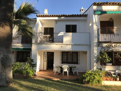 Photo for 3 bedroom town house in Denia with communal pool and gardens 200 m from beach