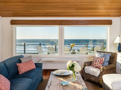 Photo for Exceptional Oceanfront House near Cannon Beach, Gorgeous decor, amazing view!