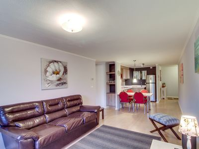 Photo for Walk to the lake from this family-friendly rental apartment w/ balcony!