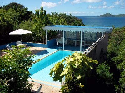 Photo for Charming Property! Beautiful ocean and St Kitts Views!