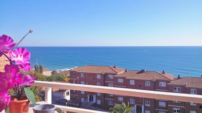 Balcony with fantastic sea view.