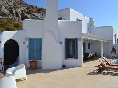 Photo for Suberb Villa in Plaka Naxos with breathtaking view to the Aegean Sea