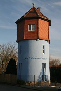 Photo for Holiday in the water tower, near Weimar, Jena, Erfurt, Thuringia, Pet