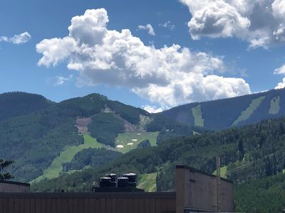 Photo for Sunny little Condo with amazing views of the ski slopes.