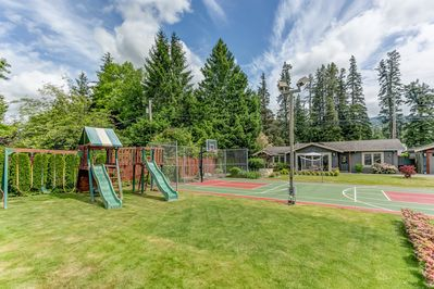 Playset and sport court