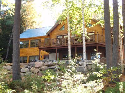 Photo for Lovely Private Log Home Perfect For Larger Families Situated On Thompson Lake