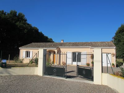 Photo for Peaceful situation with garden, above ground pool and views. Dogs welcome
