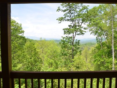 Photo for Smoky Mountain Views and Hot Tub! - Cedars Cabin is Pet Friendly