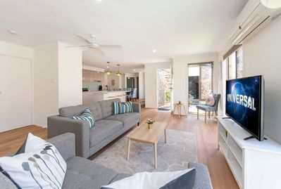 Open plan living, kitchen and dining