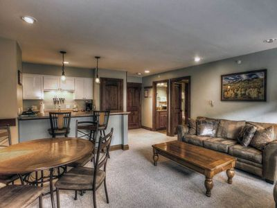 Photo for Mountain view condo with ski in/ski out access, shared pool & hot tub