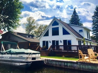 Photo for Houghton Lk 3 BR Waterfront year-round home.  Beautiful views, Pontoon available