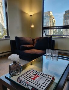 Photo for Spacious 2 Bedroom Apartment with spectacular city & famous Burrard bridge view