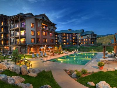 Photo for Luxurious Mountain Condo w/Onsite Workout Facility, Pool & Fire Pit! Great for Summer Vacation
