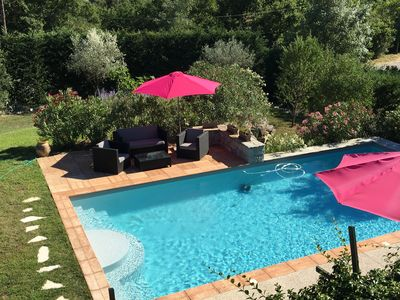 Photo for House in the heart of the Ardeche gorges, 8 people, air-conditioned, heated swimming pool