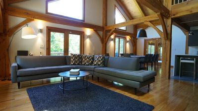 Photo for Four-season spacious and modern Catskill / Ashokan retreat on 11 wooded acres