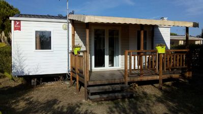 Photo for MOBIL HOME CLIMATISE 6 places with COVERED TERRACE and PRIVATE PARKING