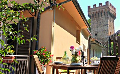 Photo for Medieval Village House. 2 private terraces. 5 min walk to village. Nr Pisa/Lucca