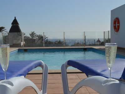 Photo for Villa in Playa Blanca, Lanzarote. 4 bedrooms, 3 bathrooms, heated pool, jacuzzi