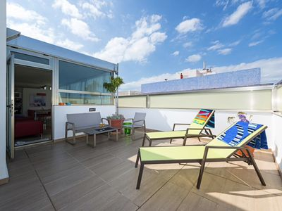 Photo for Amazing penthouse with sunny terraces next to the beach. Design Totally private