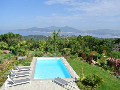 Photo for PORTICCIO NEW CONTEMPORARY VILLA PANORAMIC SEA VIEW HEATED SWIMMING POOL