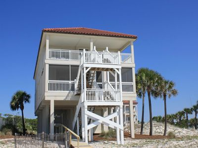 """Photo for Ready To Rent Now! Sunset Beach Beachfront, Next to State Park, Bring the Pets! Hot Tub, Beach Gear, Fireplace, Elevator 5BR/5BA/2HB """"Beach Music"""""""