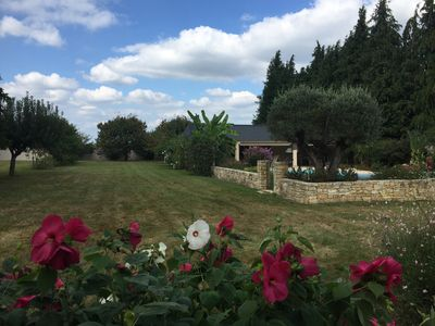 Photo for Charming house at the foot of the pyrenées, its Pyrenean passes, golf, ballads