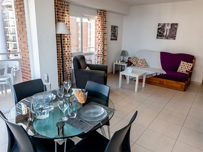 Photo for Beautiful renovated apartment 50m from the beach up!