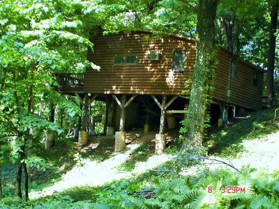 Photo for Lakefront Cottage with private beach and total privacy