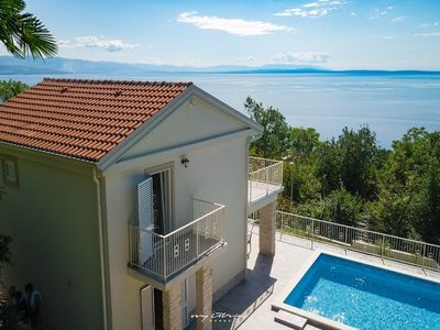 Photo for Beautiful villa with pool & sea view in Opatija