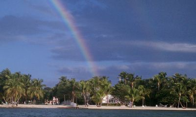 Rainbow over the Russell Estate. Taken by guest.