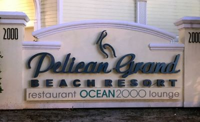 You have arrived !  The Pelican Grand Beach Resort !