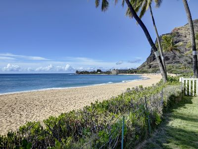 Photo for Steps From the Sand Charming Beach Front Cottage Located on Makaha Surfing Beach