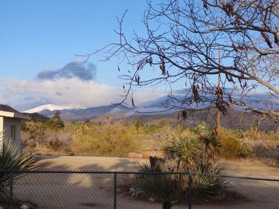 January view from backyard to mountains.